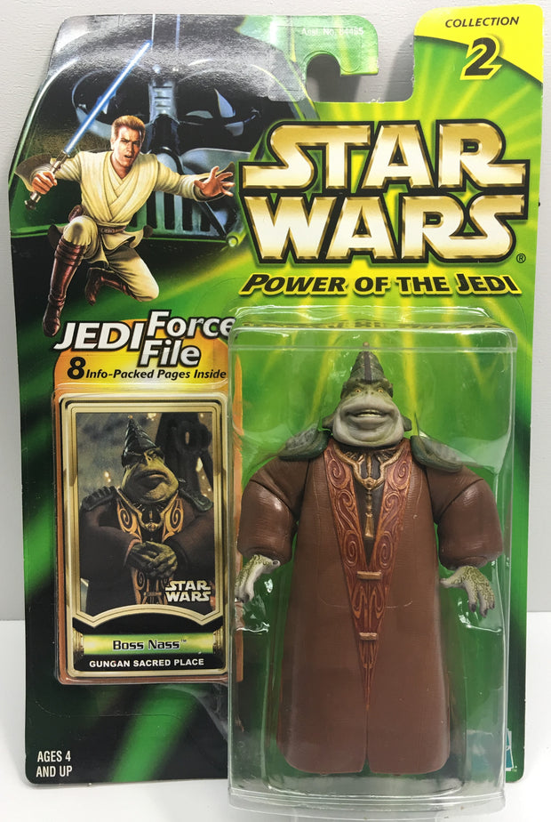 (TAS033219) - 2000 Hasbro Star Wars Power Of The Jedi Boss Nass Gungan Place, , Action Figure, Star Wars, The Angry Spider Vintage Toys & Collectibles Store  - 1