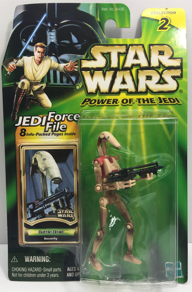 (TAS033230) - 2000 Hasbro Star Wars Power Of The Jedi Battle Droid Security, , Action Figure, Star Wars, The Angry Spider Vintage Toys & Collectibles Store  - 1