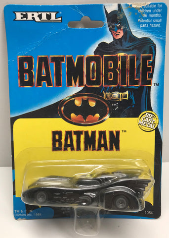 TAS037924 - 1989 ERTL Batman Die-Cast Metal Batmobile