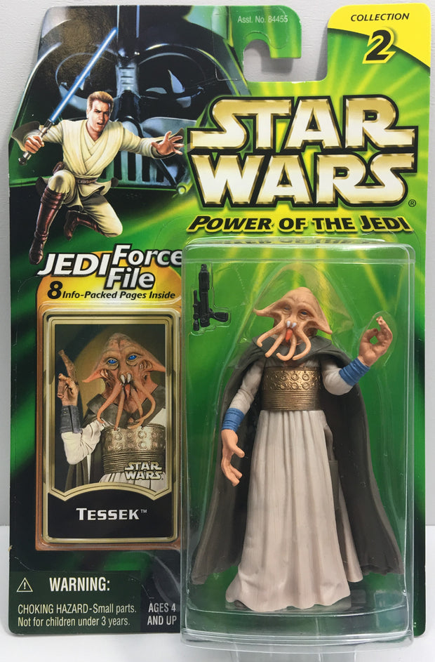 (TAS033240) - 2000 Hasbro Star Wars Power Of The Jedi Tessek (Collection 2), , Action Figure, Star Wars, The Angry Spider Vintage Toys & Collectibles Store  - 1