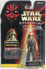 (TAS033241) - 1998 Hasbro Star Wars Episode I CommTech Jar Jar Binks Gungan, , Action Figure, Star Wars, The Angry Spider Vintage Toys & Collectibles Store  - 1