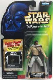 (TAS033247) - 1997 Hasbro Star Wars The Power Of The Force Lando Calrissian, , Action Figure, Star Wars, The Angry Spider Vintage Toys & Collectibles Store  - 1