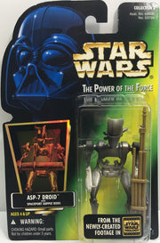 (TAS033252) - 1996 Hasbro Star Wars The Power Of The Force ASP-7 Droid Spaceport, , Action Figure, Star Wars, The Angry Spider Vintage Toys & Collectibles Store  - 1