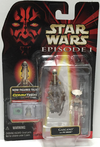 (TAS035072) - 1998 Hasbro Star Wars Episode I Figure w/ CommTech - Gasgano, , Action Figure, Star Wars, The Angry Spider Vintage Toys & Collectibles Store