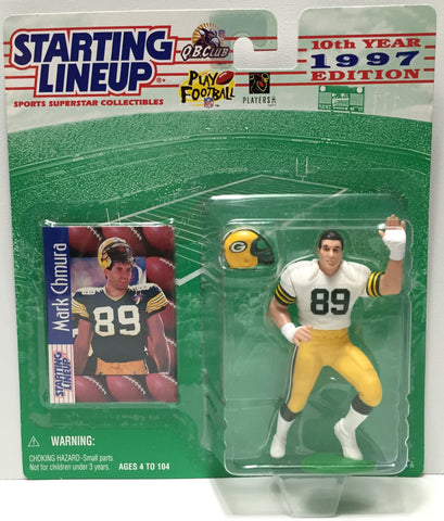 (TAS035079) - 1996 Hasbro Starting Lineup Figure - Football - Mark Chmura, , Action Figure, Starting Lineup, The Angry Spider Vintage Toys & Collectibles Store  - 1