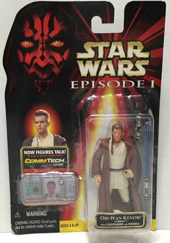 (TAS035071) - 1999 Hasbro Star Wars Episode I Figure CommTech - Obi-Wan Kenobi, , Action Figure, Star Wars, The Angry Spider Vintage Toys & Collectibles Store  - 1