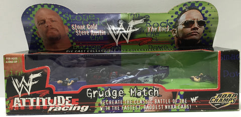(TAS035091) - 1999 Jakks Pacific WWF Attitude Racing - Stone Cold & The Rock, , Action Figure, Wrestling, The Angry Spider Vintage Toys & Collectibles Store  - 1