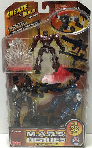 (TAS035089) - Cybotronix M.A.R.S. Heroes Figures -Blaster, Martian, & Darkbeat, , Action Figure, n/a, The Angry Spider Vintage Toys & Collectibles Store  - 1