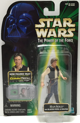 (TAS035081) - 1999 Hasbro Star Wars The Power of the Force Figure - Han Solo, , Action Figure, Star Wars, The Angry Spider Vintage Toys & Collectibles Store  - 1