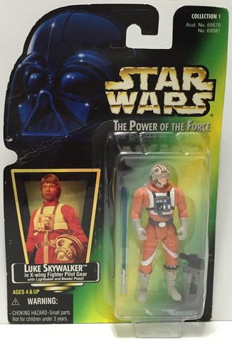 (TAS035080) - 1997 Hasbro Star Wars The Power of the Force Figure Luke Skywalker, , Action Figure, Star Wars, The Angry Spider Vintage Toys & Collectibles Store  - 1