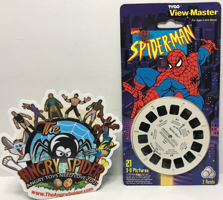 TAS040854 - 1995 Tyco Industries Marvel Spider-Man View-Master 3D Reels