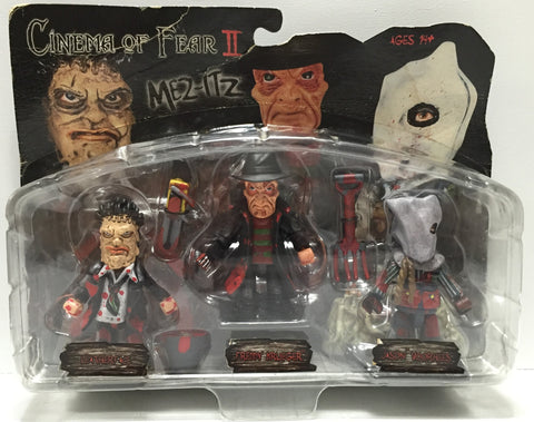 (TAS035066) - 2005 Mezco Cinema of Fear II Figures- Leatherface, Freddy K, Jason, , Action Figure, Mezco, The Angry Spider Vintage Toys & Collectibles Store  - 1