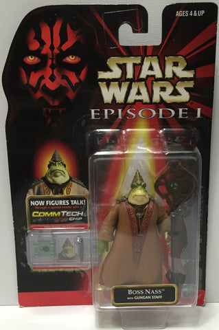 (TAS035078) - 1998 Hasbro Star Wars Episode I Figure w/ CommTech - Boss Nass, , Action Figure, Star Wars, The Angry Spider Vintage Toys & Collectibles Store  - 1