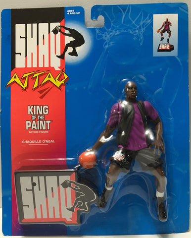 (TAS035099) - 1993 Kenner Shaq Attack King of the Paint Figure -Shaquille O'Neal, , Action Figure, NBA, The Angry Spider Vintage Toys & Collectibles Store  - 1