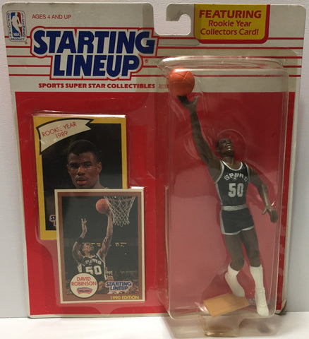 (TAS035094) - 1990 Kenner Startling Lineup Figure - Basketball - David Robinson, , Action Figure, Starting Lineup, The Angry Spider Vintage Toys & Collectibles Store  - 1