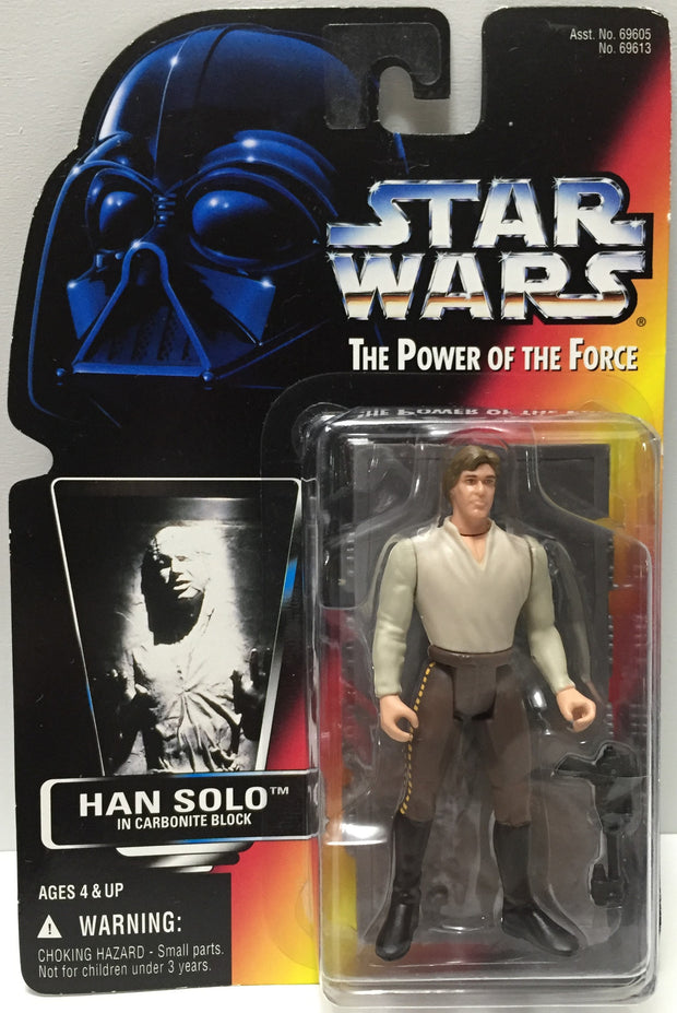 (TAS035092) - 1996 Hasbro Star Wars The Power of the Force Figure - Han Solo, , Action Figure, Star Wars, The Angry Spider Vintage Toys & Collectibles Store  - 1
