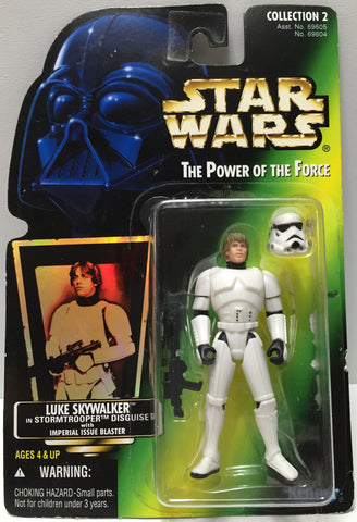 (TAS035093) - 1996 Hasbro Star Wars The Power of the Force Figure Luke Skywalker, , Action Figure, Star Wars, The Angry Spider Vintage Toys & Collectibles Store  - 1