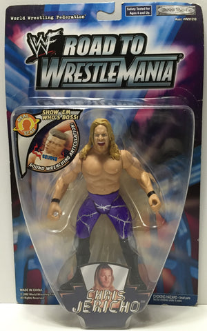 (TAS035095) - 2002 Jakks Pacific WWF Road to Wrestle Mania Figure Chris Jericho, , Action Figure, Wrestling, The Angry Spider Vintage Toys & Collectibles Store  - 1