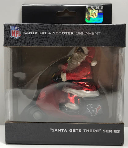 TAS038393 - NFL Houston Texans Santa Gets There Christmas Ornament