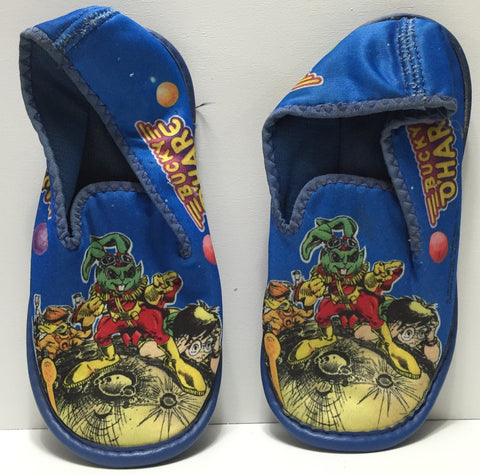 (TAS035104) - 1991 Hasbro Blue Bucky O'Hare Kids Bedroom Slippers, , Clothing & Accessories, Hasbro, The Angry Spider Vintage Toys & Collectibles Store  - 1