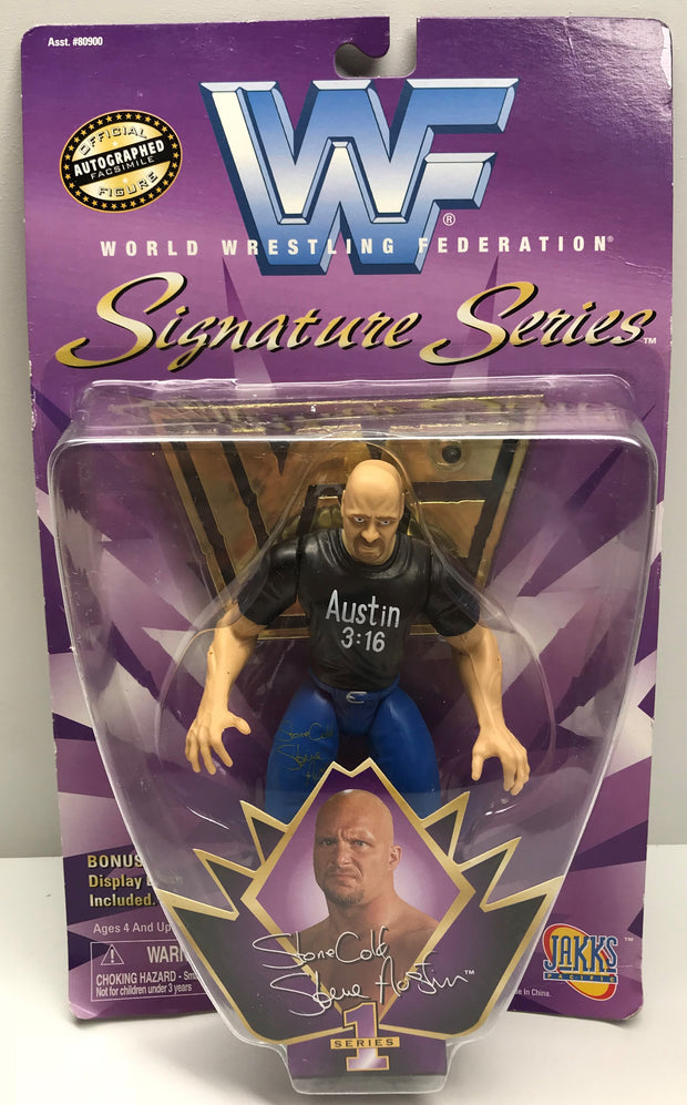 TAS038381 - 1997 Jakks WWF WWE Signature Series - Steve Austin Action Figure