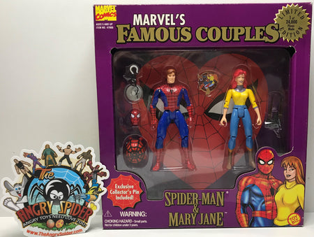 TAS040956 - 1996 Toy Biz Marvel Famous Couples Spider-Man & Mary Jane