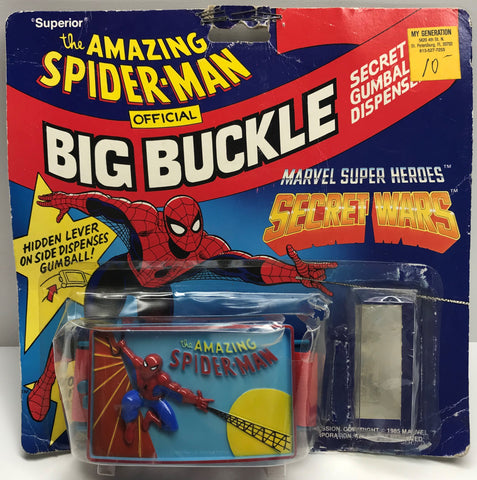 TAS038538 - 1985 Hasbro The Amazing Spider-Man Big Buckle Secret Wars