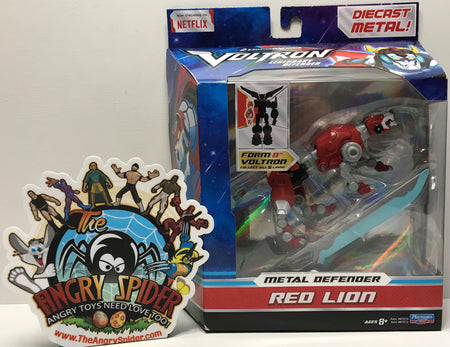 TAS040978 - 2017 Playmates Toys Voltron Die-Cast Metal Defender Red Lion
