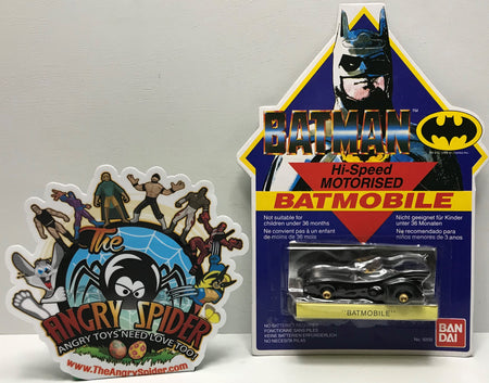 TAS041290 - 1989 Bandai DC Comics Batman Hi-Speed Motorized Die-Cast Batmobile