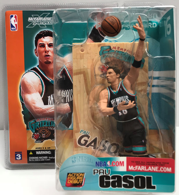 TAS038633 - 2003 McFarlane Toys NBA Memphis Grizzlies Paul Gasol Action Figure