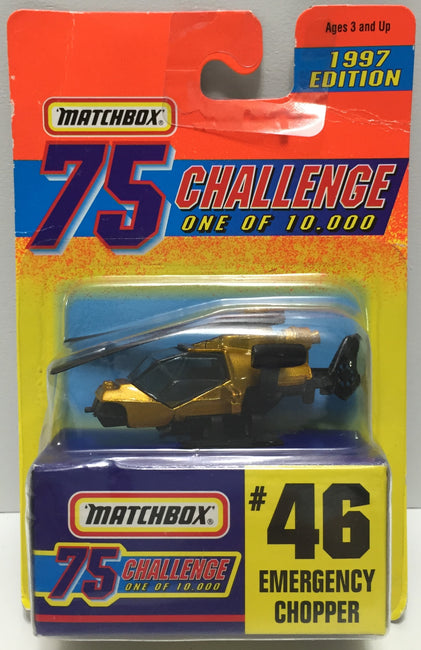 TAS037503 - 1996 Matchbox 75 Die-Cast #46 Emergency Chopper