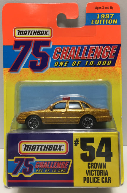 TAS037511 - 1996 Matchbox 75 Die-Cast #54 Crown Victoria Police Car