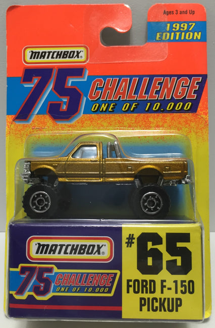 TAS037514 - 1996 Matchbox 75 Die-Cast #65 Ford F-150 Pickup