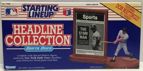 TAS037516 - 1990 Kenner Starting Lineup Headline Collection - Don Mattingly