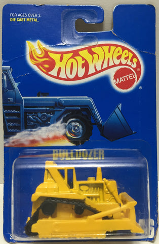TAS037518 - 1991 Mattel Hot Wheels Die-Cast Bulldozer #146