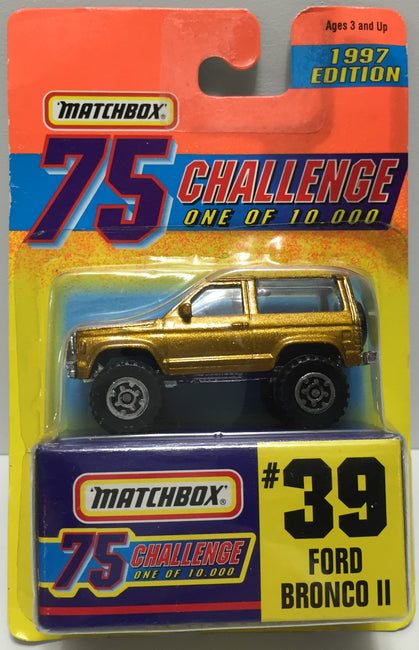 TAS037433 - 1996 Matchbox Die-Cast #39 Ford Bronco II