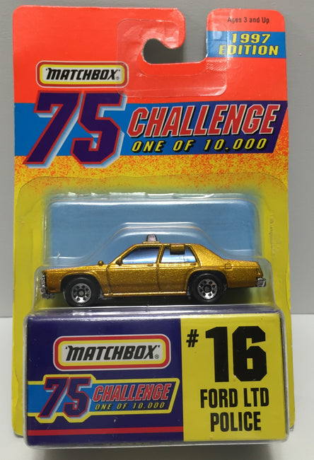 TAS037436 - 1996 Matchbox Die-Cast #16 Ford LTD Police Car