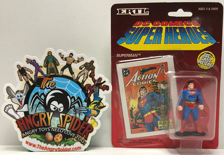 TAS041307 - 1990 ERTL DC Comics Super Heroes Die-Cast Figure - Superman Standing #716