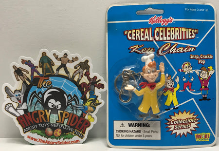 "TAS041314 - 1998 Fun 4 All Kellogg's ""Cereal Celebrities"" Key Chain - Snap, Crackle, Pop"