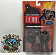 TAS041245 - 1993 Kenner Batman The Animated Movie Mask Phantasm Total Armor Batman