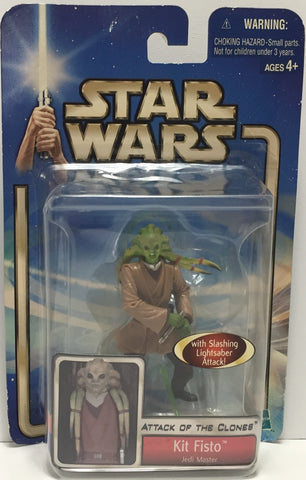 TAS037458 - 2001 Hasbro Star Wars Attack Of The Clones - Kit Fisto