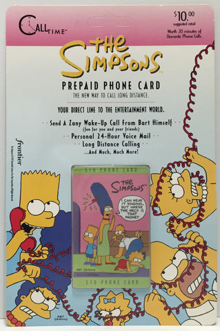 TAS037476 - 1995 Call Time The Simpsons Prepaid Phone Card