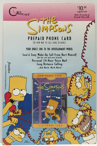 TAS037477 - 1995 Call Time The Simpsons Prepaid Phone Card - Bart