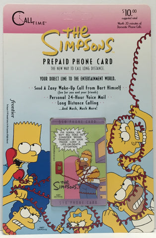 TAS037478 - 1995 Call Time The Simpsons Prepaid Phone Card - Homer