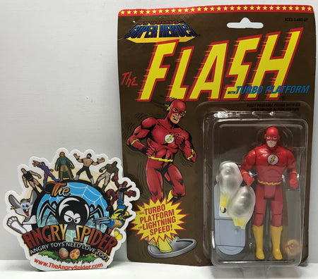 TAS041033 - 1991 Toy Biz DC Comics Super Heroes Action Figure - The Flash Turbo