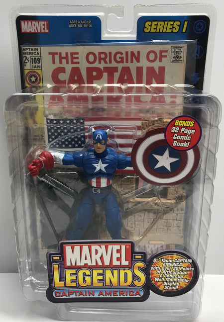 TAS038796 - 2002 Toy Biz Marvel Legends Captain America Series 1