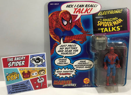 "TAS041317 - 1991 Toy Biz Marvel Super Heroes Electronic The Amazing Spider-Man ""Talks"""