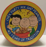 TAS022001 - Vintage Chex Party Mix Charlie Brown Peanuts Tin