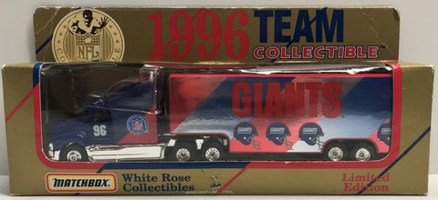 TAS038931 - 1996 Matchbox White Rose New York Giants NFL Die-Cast