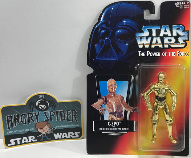 TAS041124 - 1995 Kenner Star Wars The Power Of The Force - C-3PO Metalized Body